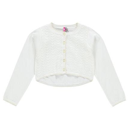 Plain-colored, thin cotton cardigan