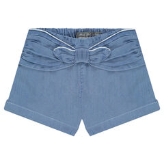 Shorts in Tencel with a permanent bow