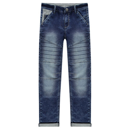 Junior - Slim fit fleece jeans with cuts