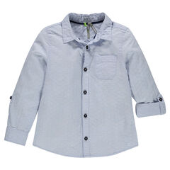 Junior - Fancy cotton shirt with roll-up sleeves