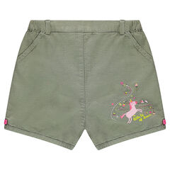 Bloomer shorts in woven cotton with a unicorn print