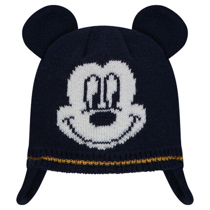 Knit chullo with jacquard ©Disney Mickey Mouse motif