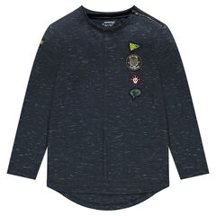 Junior - Long-sleeved jersey tee-shirt with badges