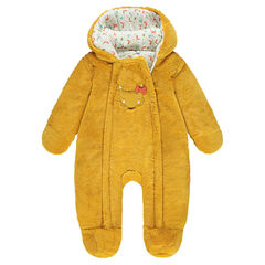 Sherpa snowsuit with fox patch and jersey lining