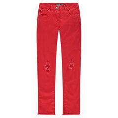 Junior - Used-effect skinny pants