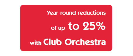 -25% discount Club Orchestra